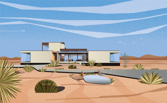 lifestyle architecture illustration